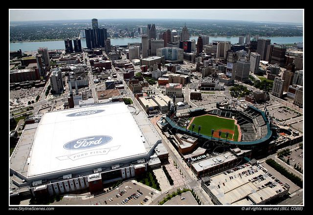 detroit ford field parking | Comerica Park and Ford Field, Detroit