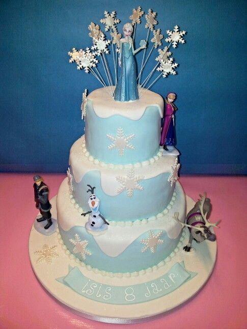 3 tier frozen cake www.dezoetetaart.com