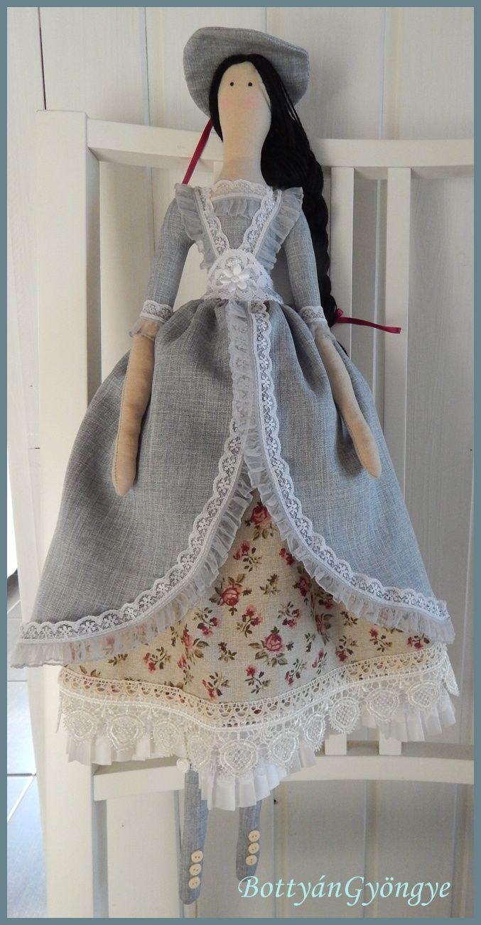 Kalapos hölgy - Hat lady - Tilda doll