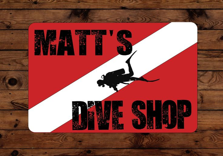 Custom Dive Shop Sign Sublimation Printed Sign/Personalized Sign/Man Cave/Family Sign