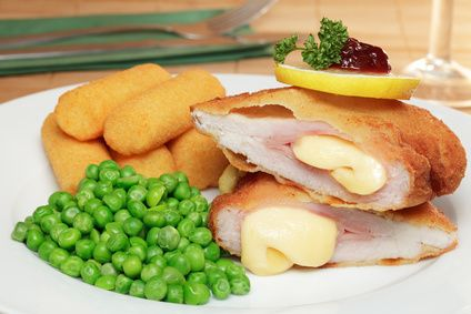 Bavarian Kitchen   German Recipes   Cordon Bleu - Ham & Cheese filled Schnitzel   10/5/2012