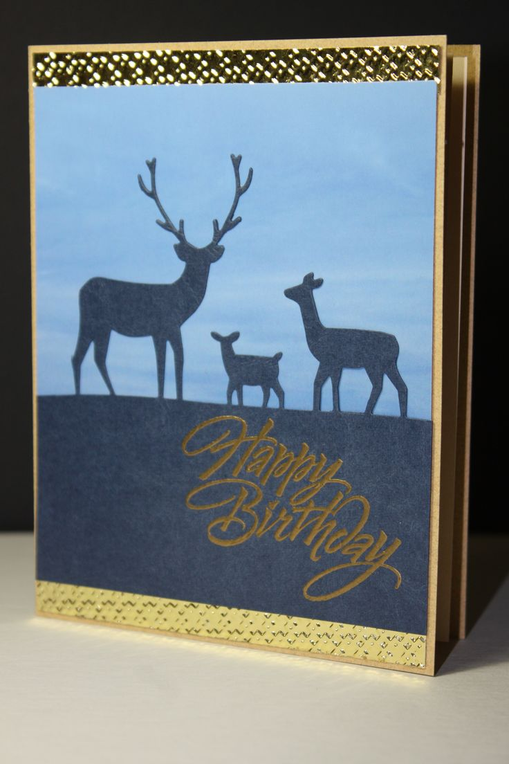 Happy Birthday, Memorybox Dies Deer Trio Lotte Huxley