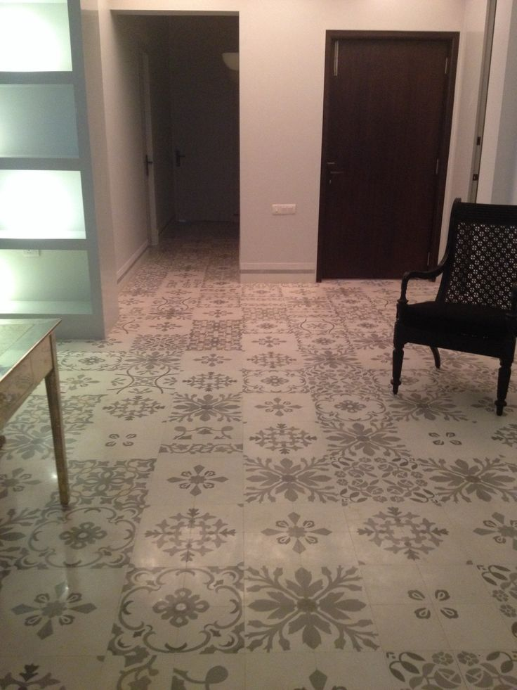 A White And Grey Heritage Tile Floor Designed By Alice Von