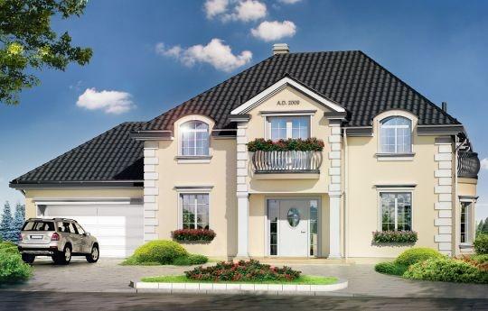 Projekt Magnat to reprezentacyjna stylowa willa, nawiązująca do stylistyki dworków i willi międzywojennych. Swój ponadczasowy styl łączy z nowocześnie i funkcjonalnie zaprojektowanym wnętrzem. Dom jest prostokątną, parterową bryłą z poddaszem użytkowym oraz dobudowaną częścią garażową. Budynek został przekryty czterospadowym dachem.