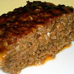 Meatloaf with onion soup mix (can use dried minced onions instead to cut down on sodium)