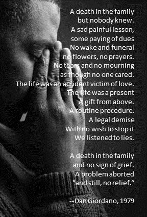 powerful quote on abortion. dan giordano