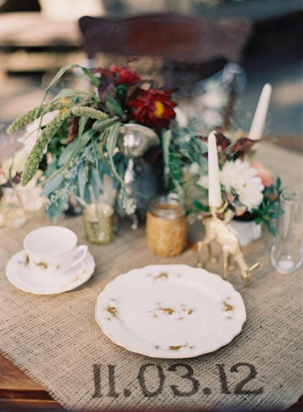 Teacups + Burlap = FABULOUS. Photography by odalysmendezphotography.com, Floral Design by adornedeventdesign.com