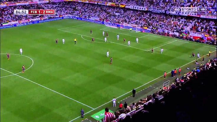 Gareth Bale goal vs FC Barcelona Copa Del Rey Final 2014 English commentary