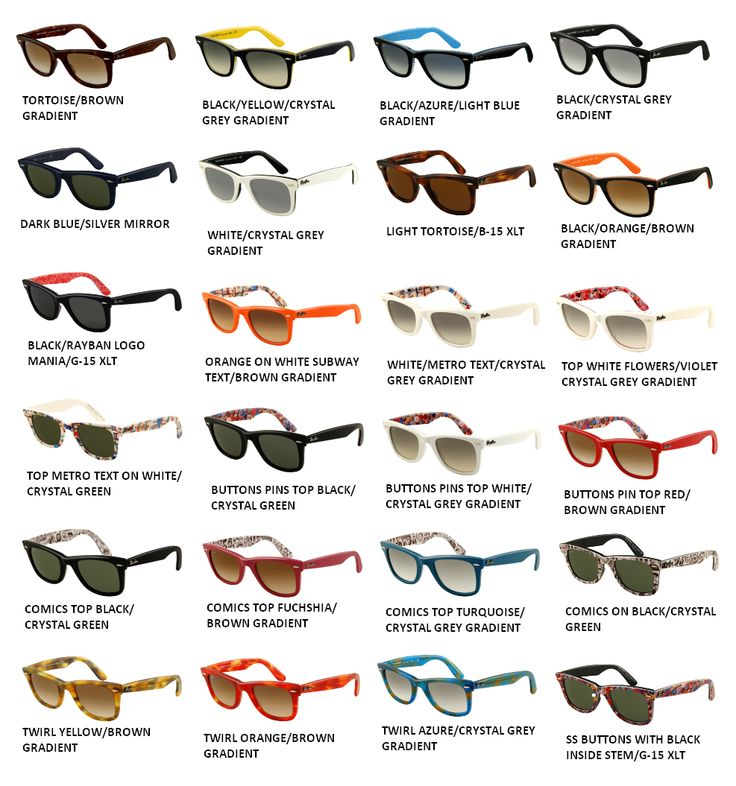ray ban junior sunglasses size chart