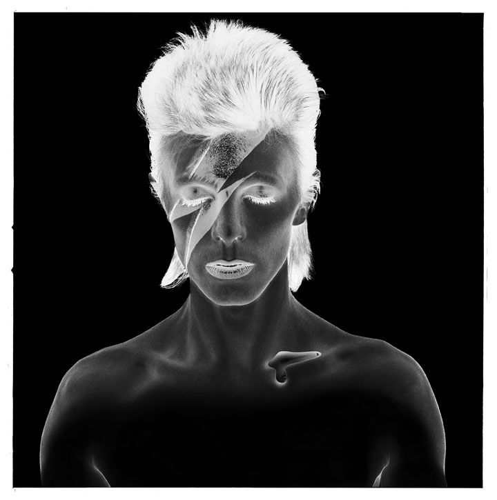 David Bowie, Aladdin Sane, Negative, 1973 © Brian Duffy ore info on the exhibition in Foam: http://www.foam.org/visit-foam/calendar/2013-exhibitions/bowie-by-duffy-photographs-72-80