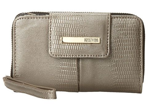 Kenneth Cole Reaction Wooster Street PDA Tab Wristlet Pewter (champagne)