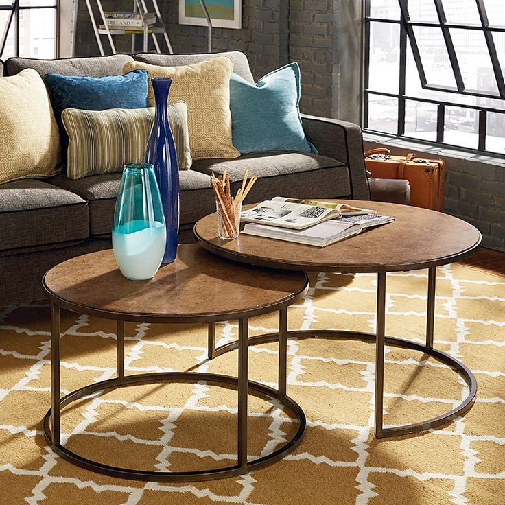 Bronze Nesting Coffee Tables: Have To Have It. Hammary Soho Round Nesting Cocktail Table