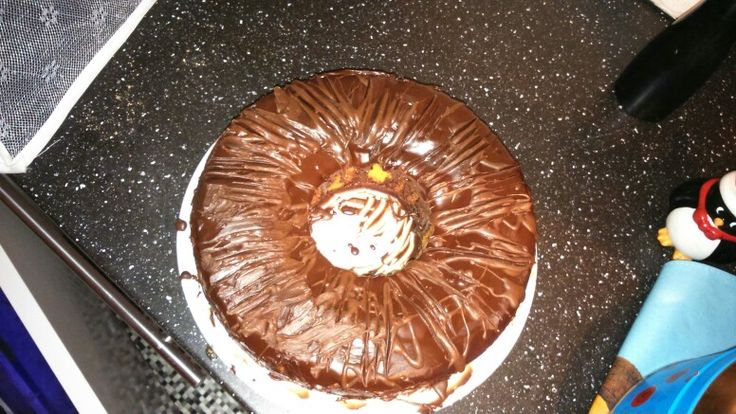 Double chocolate icing...