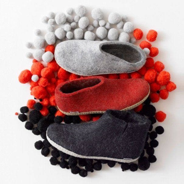 Glerups are flexible felt slippers that keep your feet comfortable, warm and dry. The company began in 1993 when Nanny Glerup felted her first pair of boots using wool from her Gotland sheep. Her hobby has grown somewhat since then...