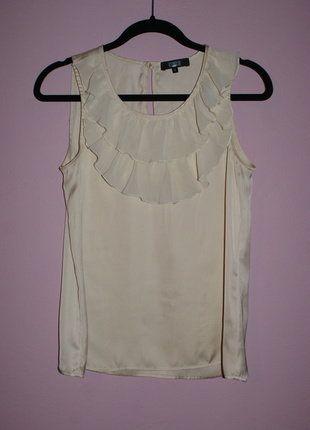 Kup mój przedmiot na #vintedpl http://www.vinted.pl/damska-odziez/bluzki-z-krotkimi-rekawami/16383228-bezowa-bluzka-na-ramiaczka-z-falbanka