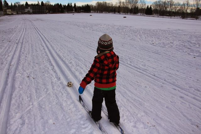 Ski Soccer! Cross Country Skiing With Kids - 5 Ways to Make it FUN!