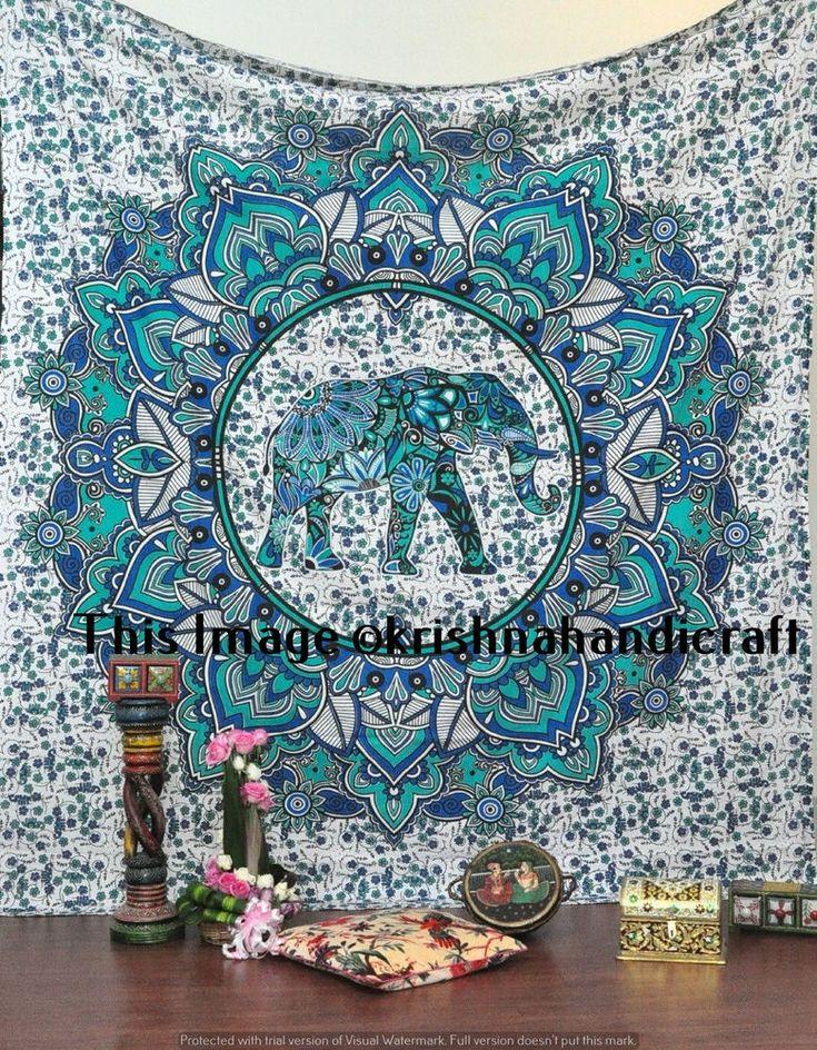 Indian Vintage Mandala Tapestry Hippie Bohemian Bedspread