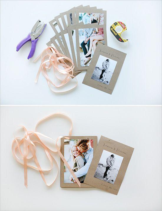 新郎新婦の写真を可愛く飾り付けするアイデア ウエディング手作りアルバムno,6