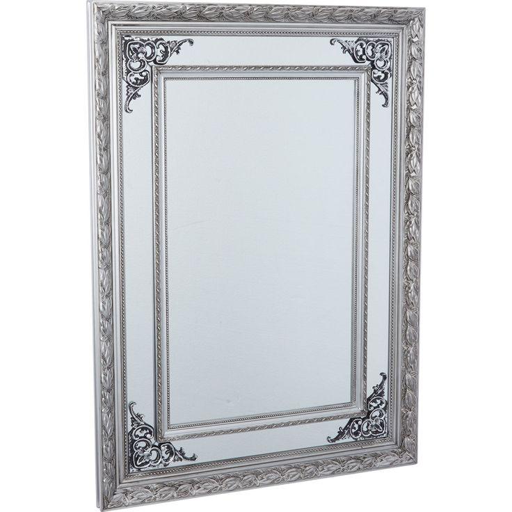 Silver Tone Framed Rectangular Mirror 65x90cm - Wall Art - Home Accessories - Home - TK Maxx