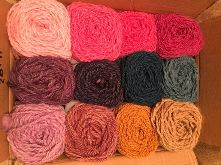 My own handspun yarn, naturally dyed with plants, cochinea and indigo. ©Unna Hallgren, Norway. Feel free to share photo, but please keep my name with it!