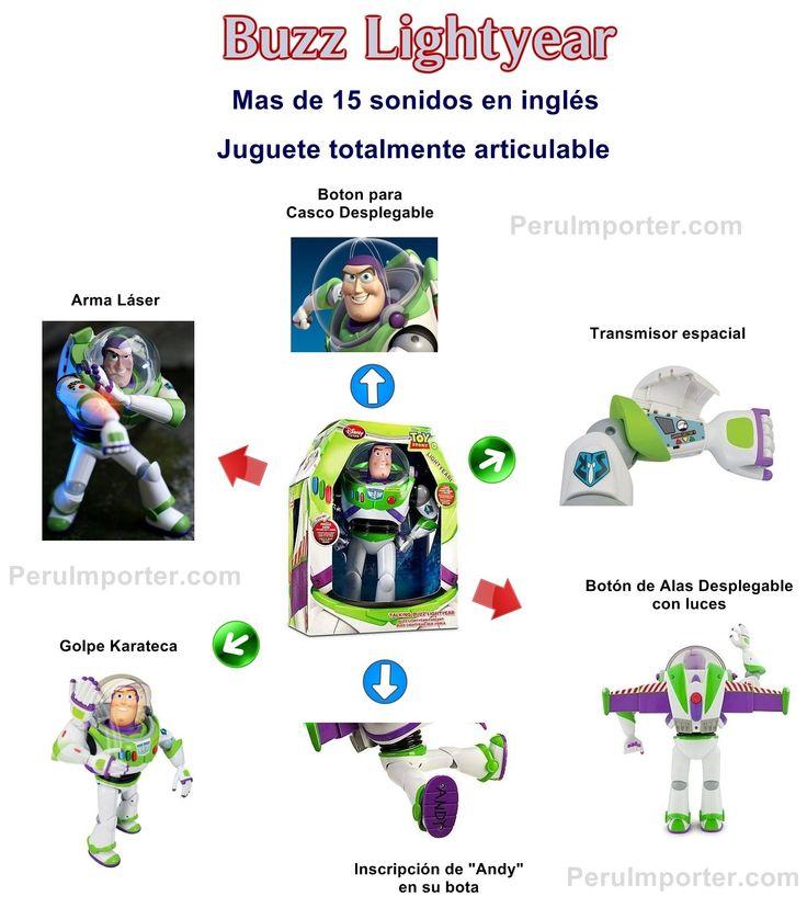 Descripción del juguete de Buzz Lightyear de Disney Store