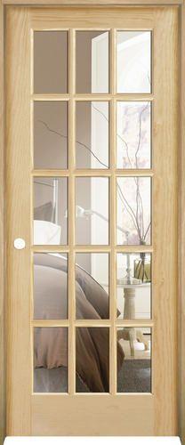 Mastercraft 30 x 80 ready to finish pine 15 lite prehung interior door right inswing for Mastercraft prehung interior doors