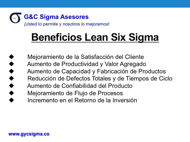 Beneficios Lean Six sigma