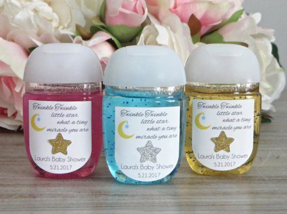 Twinkle Twinkle Little Star Baby Shower Hand Sanitizer Favor Label
