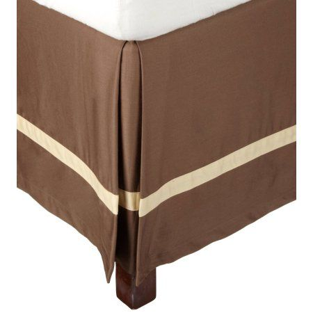 Superior 300 Thread Count Cotton Hotel Collection Bed Skirt, Brown
