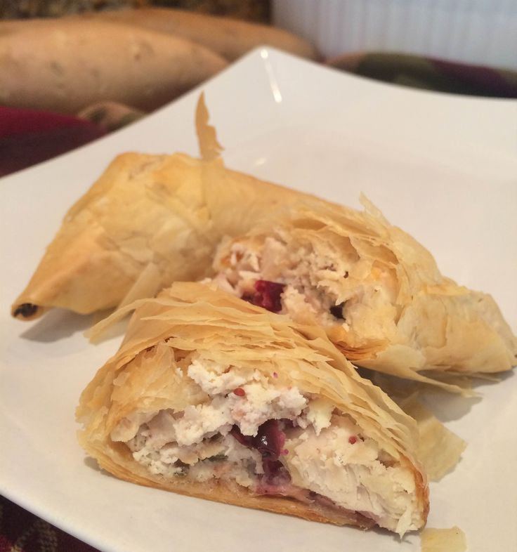 Cranberry and Ricotta Stuffed Filo
