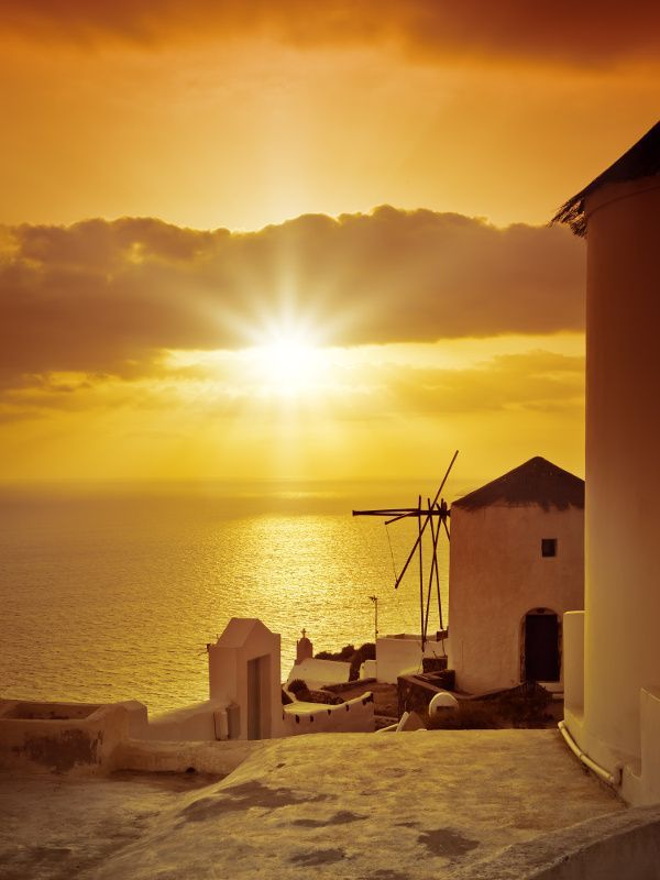 Fototapeta F2246 - Zachód słońca na wyspie Santorini