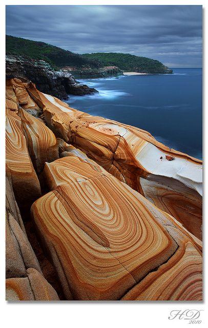 Liesegang Rings, Bouddi National Park, New South Wales, Australia.