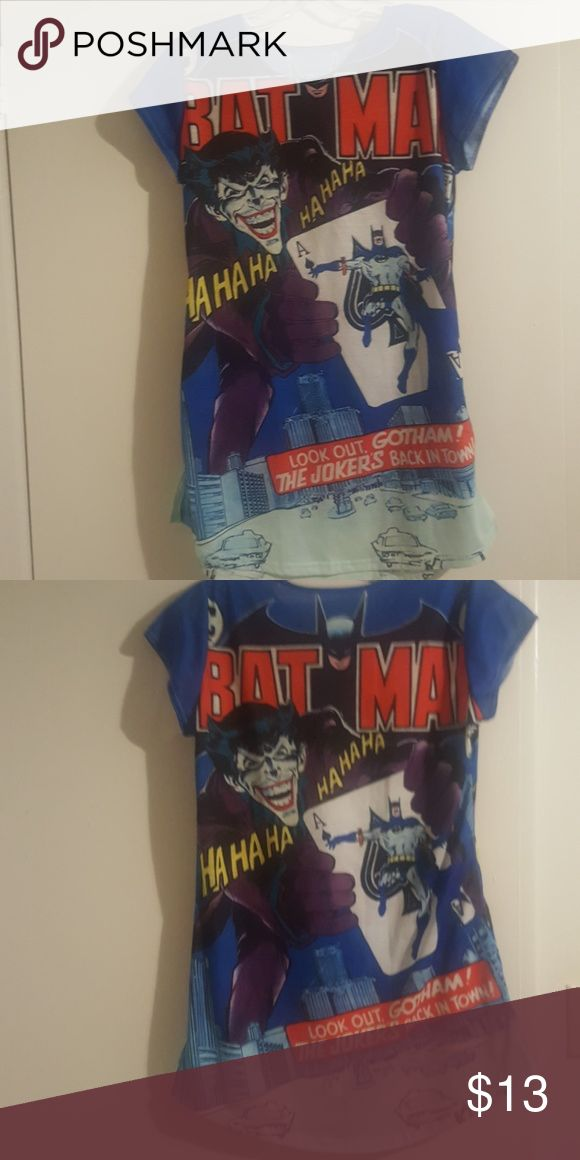 Marvel Batman Joker T shirt Early Batman inspired design, fits loosely on S, fitted on M Tops Tees - Short Sleeve