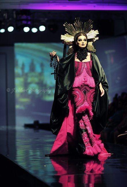 @oscardanielmakeup headpieces for Jakarta Fashion And Food Festival dress by Denny Wirawan