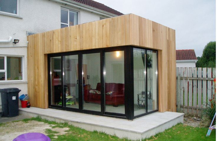 Modern elmwood extension architects ballymena antrim for Detached sunroom