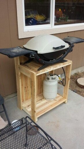 Pallet Grill Stand Great Ideas Bbq Stand Bbq Table