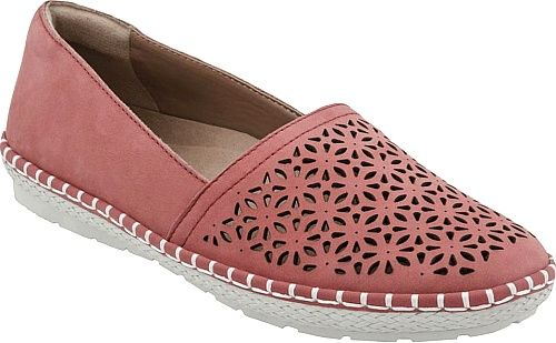 Earth Shoes - This flaunt-worthy flat features comfort to spare and gorgeous geometric cut-outs accented by contrast stitching that gives it a hand-crafted look. Premium leather upper with glove-soft leather lining. - #earthshoes #coralshoes
