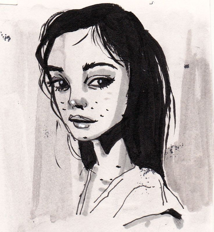 Kind of inspired by a model on thenletitbe.tumblr.com #Portrait #drawing #imperfections #blackandwhite #penandink