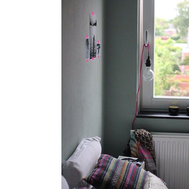 New in:#interior #lightbulb #101slaapkamer #101woonideeen #bedroom #window #interior #green #earlydew