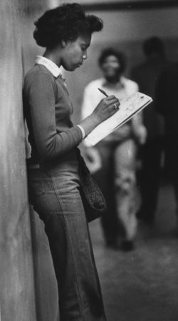 Published on: September 6, 1978 Confused -- Dorothy Johnson, senior from Monroe High School puzzles over schedule, searches for makeshift classroom assignments on first day of merged Washington and Monroe High School in Washington High building under renovation. ] Oregonian file photo