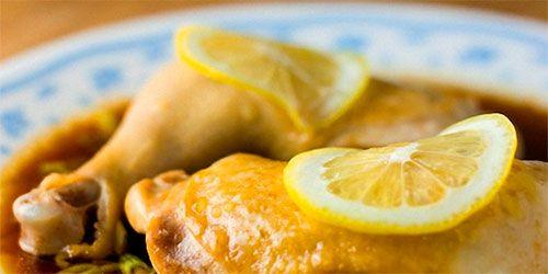 Trutros enteros en Salsa de limon Siciliano