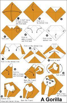 origami gorilla instructions - Google Search