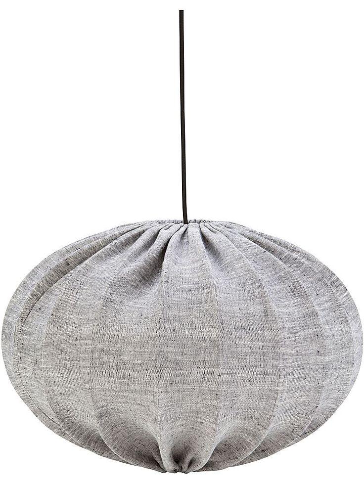 PR Home Hilma taklampa i grått linnetyg