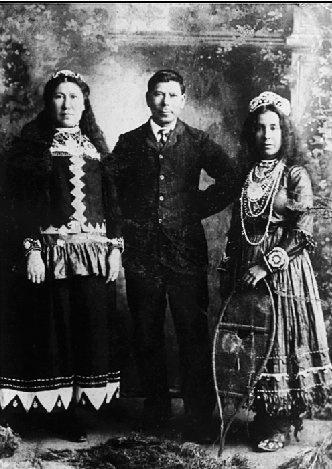 Anis Sacobie, Noel Sacobie, Madeline Paul - Maliseet - circa 1900