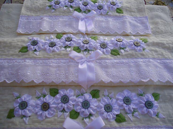 ArteCetim: Toallas bordadas cinta