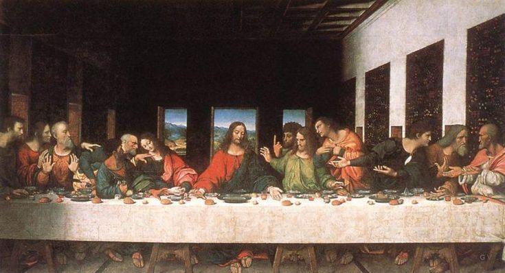 La última cena - famosa pintura mural de Leonardo da Vinci