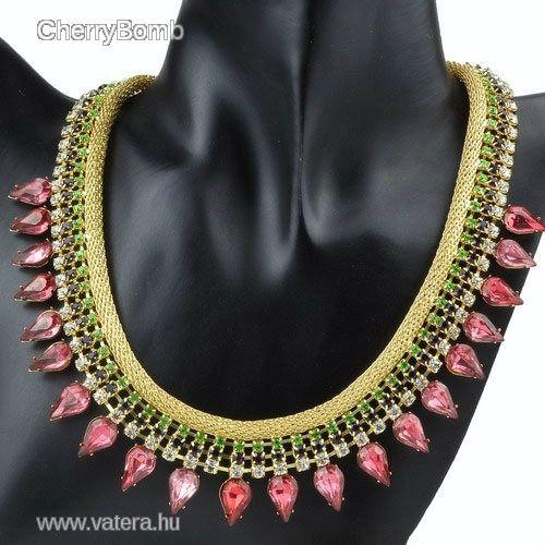 **Meseszép női nyaklánc** - 2200 Ft - Nézd meg Te is Vaterán - Bizsu nyaklánc - http://www.vatera.hu/item/view/?cod=1870578005