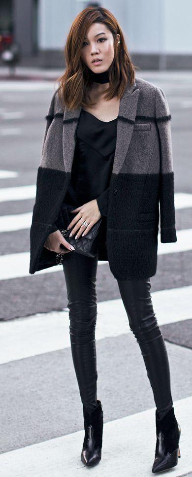 Winter Boyfriend Blazer Fall Street Style women fashion outfit clothing stylish apparel @roressclothes closet ideas