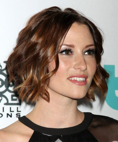 Chyler Leigh Hairstyle - Medium Wavy Formal - Dark Brunette