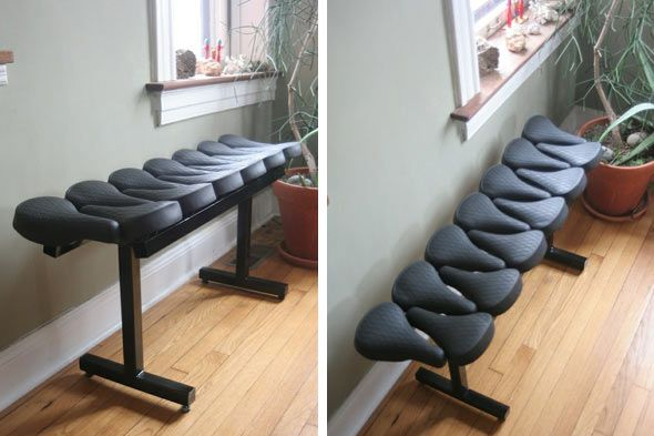 Bicycle Seat Bench thats awesome